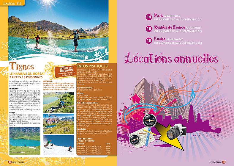 Double pages intèrieures du catalogue du CE de la SMC 2013