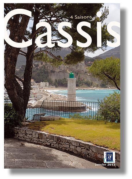 Mairie de CASSIS - 4 saisons 2013 - Conception, mise en page et fabrication en 6 000 exemplaires - 36 pages