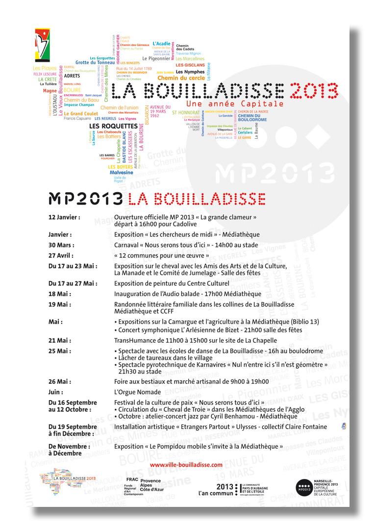 AFFICHE - MAIRE DE LA BOUILLADISSE - Conception, Déclinaison & Fabrication