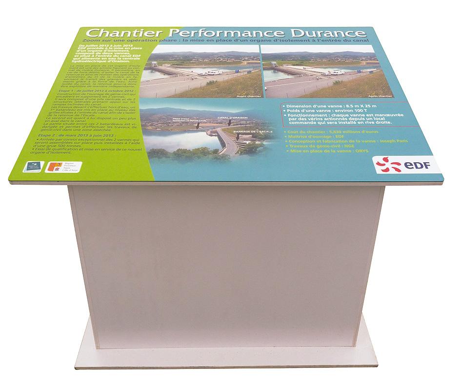 EDF - Table d'orientation barrage de l'Escale 04 - Conception, fabrication & pose