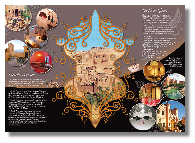 OUVREZ LES PORTES DU RIAD KSAR IGHNDA à Ouarzazate - Conception & fabrication