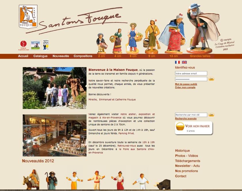Santon Fouque OS Commerce - Conception, développement et hébergement